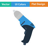 Flat design icon of electric drill