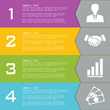 Template with elements for presentations.