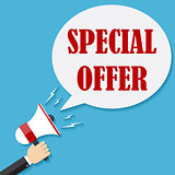 Megaphone with text Special Offer.