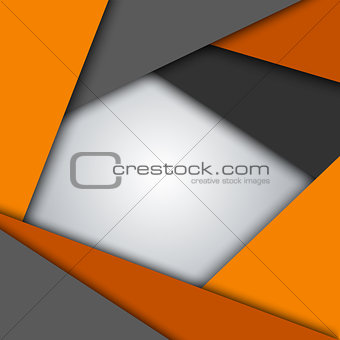 Abstract orange gray triangles background