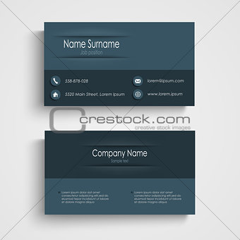 Business card with blue design template