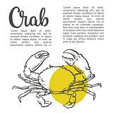 sketch contour crab