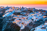 Oia at sunset, Santorini, Greece