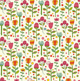 Vector Ornate seamless pattern with the stylized flowers