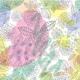 Vector Floral Hand drawn seamless pattern