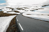 Snowfields Road in Norway