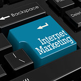Internet marketing concept. 3D Render.