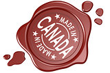 Made in Canada label seal isolated