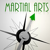 Martial Arts on green compass