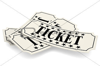 Ticket paper isolated