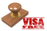 Visa free wooded seal stamp
