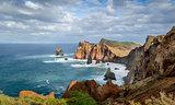 Madeira island rocky coast
