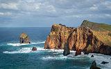 Madeira island eastern rocks