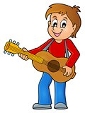 Boy guitar player theme image 1