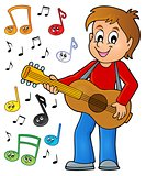 Boy guitar player theme image 2