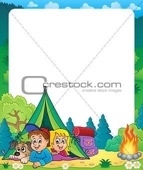 Camping theme frame 2