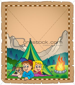 Camping theme parchment 2
