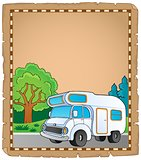 Parchment with camping van theme 1