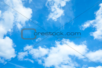 bright blue sky with some clouds