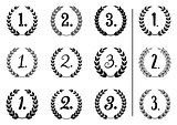Vector laurel wreaths collection