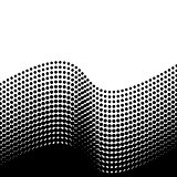 Black vector halftone design element