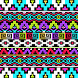 Colorful vector ethnic seamless pattern