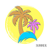 Colorful vector summer card