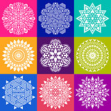 Geometric abstract mandala collection