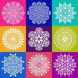 Geometric abstract mandala collection