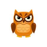 Angry Brown Owl