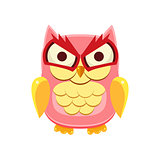 Pink Owl Holding the Laughter