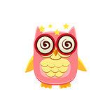 Dizzy Pink Owl