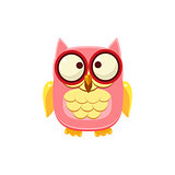 Cross-eyed Pink Owl