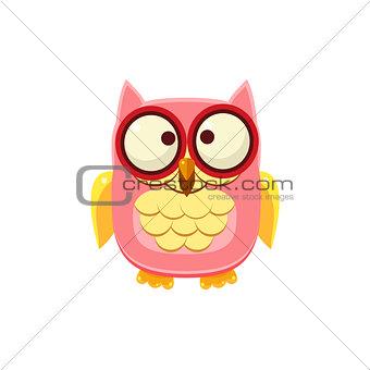 Cross-eyed Pink Owl