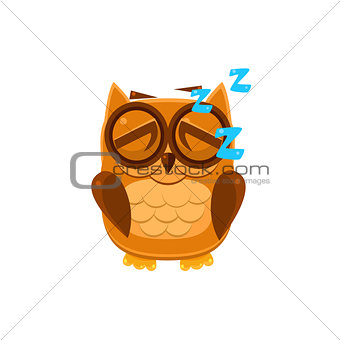Sleeping Brown Owl