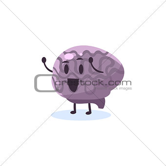 Brain Primitive Style Cartoon Character