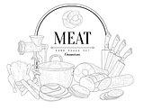 Meat Vintage Sketch