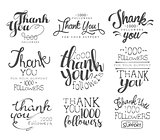 Thanking Cards For The Social Media Followers Set