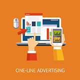 Online advertising Concept Art