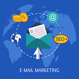 E-mail Marketing Concept Art