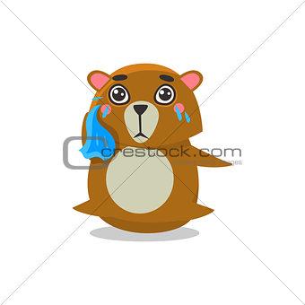 Crying Brown Bear
