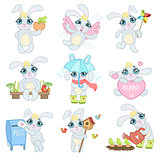 Adorable Bunny Illustrations Set