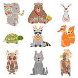 Animals Wearing Tribal Clothing Set