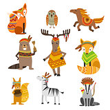 Animals Wearing Tribal Clothing Collection
