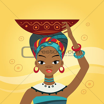 African Woman In Nation Clothes