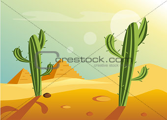 African Desert Landscape