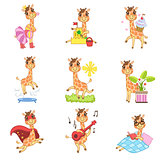 Cute Giraffe Cartoon Collection