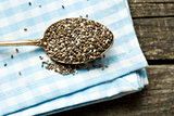 chia seeds in spoon