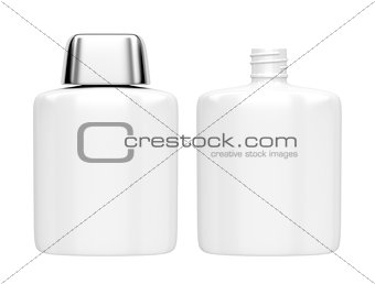 Aftershave lotion bottles