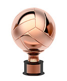 Bronze volleyball trophy